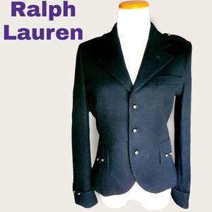 RALPH LAUREN Embroidered-Back Wool Jacket